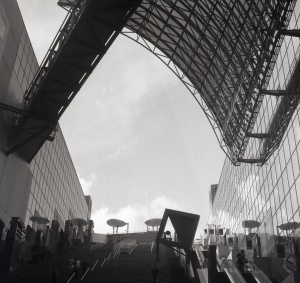 Kyoto Station, Japan. Camera: Rolleiflex Film: Ilford FP4+