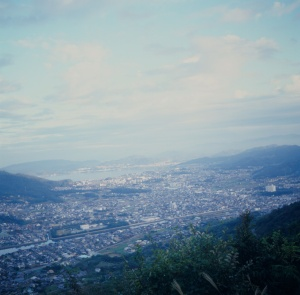 From the hill of Yashima Camera: Rolleiflex Film: Kodak E100G